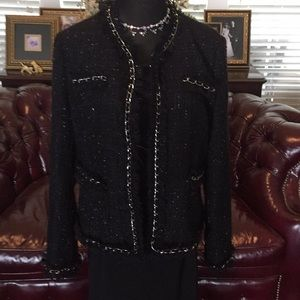 Boston Proper Size 16 Black and Silver Jacket.